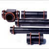 Piping and accessories of impregnated graphite